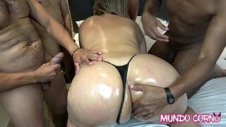 BUTTHOLE faultless-uncensored GANGBANG WITH AN INSATIABLE CUCKOLD FEMALE FOR SEXUAL INTERCOURSE