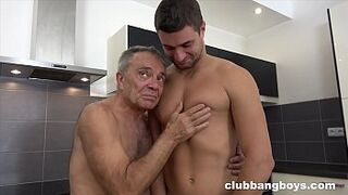 Cock Lover grandpa of the year chews cock for Valentines day