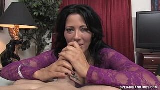Sexy Mommy Jerks Off Her Driver