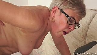 Granny Ursula Humped by a young lady stud