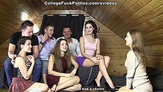 Students ended the game rough orgy