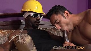 Sperm Meat - Amazing Racially Mixed Cock Lover Sex Act with a Enormous HUGE DARK COCK