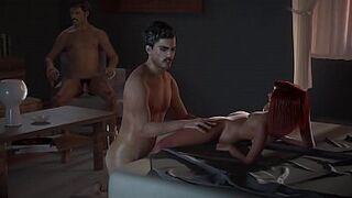 Hentai red-haired Gets Screwed By Pablo Right Infront of Pena - NarcosXX