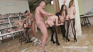 Charlotte Sartre & Brittany Bardot extreme Balls Deep Butthole & Squirt Drinking