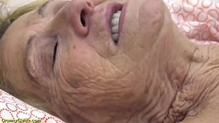 excited hairy 90 years old grandma fucked by her toyboy