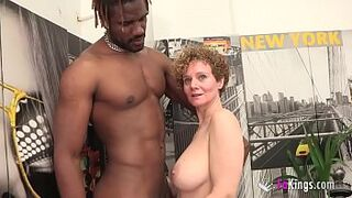Big Tits Mercé starts new year by GETTING DRILLED BY A HUGE DARK COCK