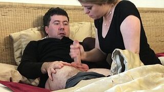 Mama gives stepson a masturbation after husband dies - Erin Electra
