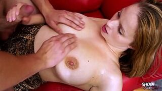Round chesty domina screaming when screwed in her giant vagina with large man meat