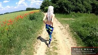Open Space Sexual Intercourse With My Friend! Eighteen Years Old in Leggins! AliceMargo.com