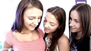 Adolescent Menage A Trois by Sapphic Erotica - sensual homosexual girl sexual intercourse scene with Ashlie and Ma