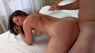 pawg dark-haired adolescent gets humped and facialized at hotel