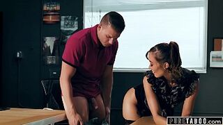 PURE TABOO Gay Woman Schoolmaster Christy Intimacy Asks Boy Student to Get Her Pregnant