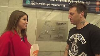 RUSSIAN GIRL Gets SEED on Her FERTILE VAGINA from AMERICAN STRANGER!