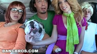 multiracial-multiracial Halloween with Jada Stevens in a Giant Booty Haunted Mansion