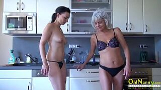 OldNannY Old and Juvenile Gay Woman Strapon Toy Play