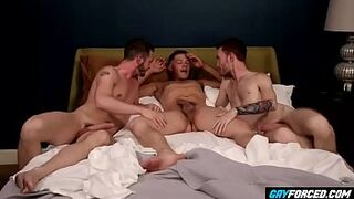 GayForced.com - Drunked Stud a. by Tranny Best Friends Menage A Trois