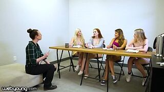 WebYoung Gay Woman Focus Group Has A Foursome Dripping Result With Melody Marks
