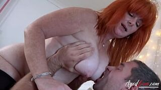 AgedLovE Straight Sex Act With Big Tits Stepmother Red-Haired