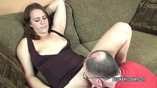 Brown-Haired coed Alisha Adams gets banged by a fortunate geek
