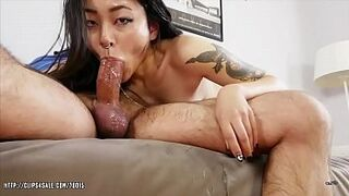 Asian Adolescent Called Rae racially mixed-multiracial Inexperienced Asian Hardcore Swallow
