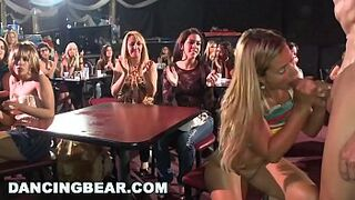 DANCING BEAR - Real Women, Real Lustful, Sucking Massive Dicks in a CFNM Party
