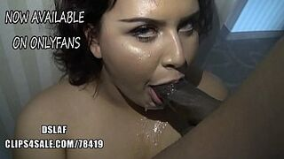 Latina With Cutie Eyes Stuffs BIG BLACK COCK Down Her Mouth- DSLAF On Onlydana