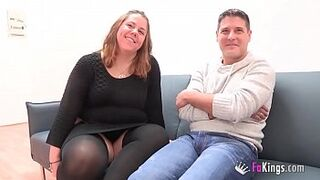 A chubby couple comes from Parejas.NET to their first porn scene. 'My God, I am so moist'