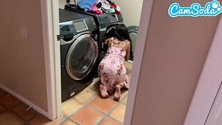 Banged my step-sister while doing laundry