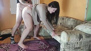Cuckold Husband Record Being Not Loyal Woman Fucking his Friend before Bang her and Sperm on her Face