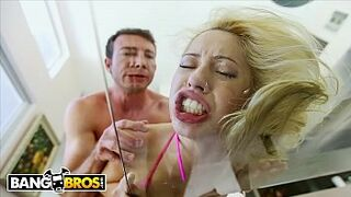 """BANGBROS - Submissive 18 Year Old Adolescent """"Goldie"""" Smashed By Jordan Ash"""