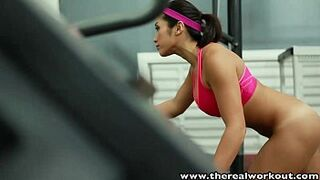 TheRealWorkout Chesty Asian gym pretty stiff vagina screwed