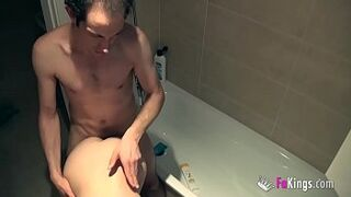 After a scene, 18yo Aragne fucks 1 of the viewers right in the shower!