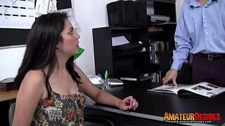 Babe inexperienced denise fucks in interview