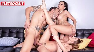 LETSDOEIT - (Aaliyah Hadid, Paige Owens & Alex Legend) Married Neighbor Cheat Woman With 2 Horny Gals That Just Moved Recently