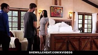 SheWillCheat - Unhappy Female Fucks Her Boytoy In Front Of Husband
