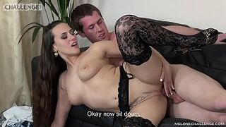 Melonechallenge Nylon lover licking only but Mea Melone intimacy sperm so dude has to