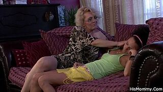 Mature Mom and adolescent lesbo orgy revealed!