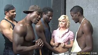 Kelly Surfer Is Getting Gangbanged By four Immense Inky Dicks