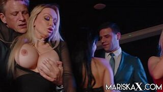 MARISKAX Orgy with Mariska and her friends - Part one