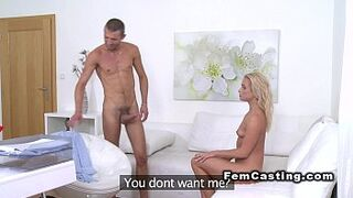 Matron agent gets sperm into mouth in casting