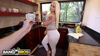 BANGBROS - Immense Bum Maid Alexis Andrews Cleans House and Fucks Tony Rubino