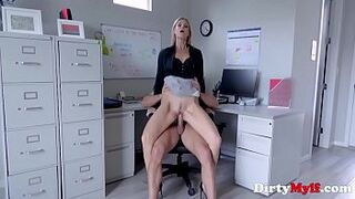 Office Intercourse With Yellowish stepmother Boss- India Summers
