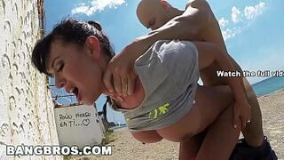 BANGBROS - Franceska Jaimes's Massive Spaniard Butt Humped in Open Space!