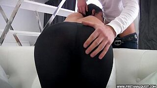 FirstAnalQuest.com - BOOTY PORN WITH A EXCITED RUSSIAN ADOLESCENT IN RIGID LEGGINGS