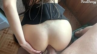 My stepdaughter's immense natural boobs are driving me crazy. I put my penis in her milky bum. FeralBerryy
