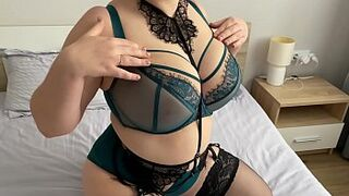 Fat secretary in lace lingerie with hairy vagina (ep.two)