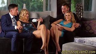 Sperm swapping ho 4some