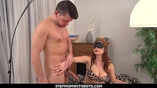 StepmomWithBoys - Surprise Childlike Man Meat For Red Hair Beautiful Milf
