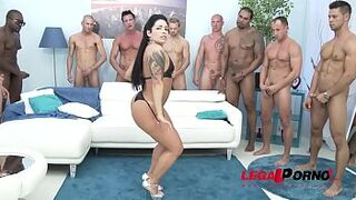 Enormous Butt gangster prostitute Monica Santiago Gangbang with Messy Deepthroat