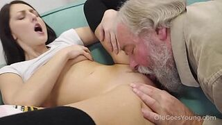 Old Goes Young Lady - Talented honey sit on old cock in cowgirl style